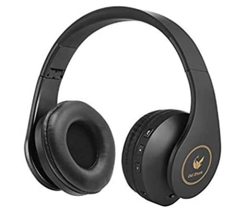 Bluetooth Headphones Over Ear, Stereo Wireless Headsets with Microphone, Foldable Earphones, Lightweight, Soft Earmuffs, Wired Mode for PC/Cell Phones/TV Black and Go $12.99
