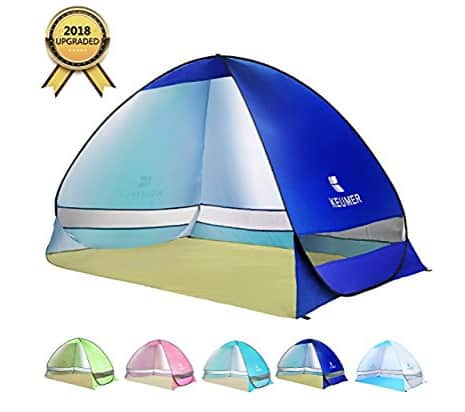 BATTOP Pop Up Beach Tent Camping Sun Shelter Outdoor Automatic Cabana 3-4 Person Fishing Anti UV Beach Tent Beach Shelter, Sets up in Seconds $28.49