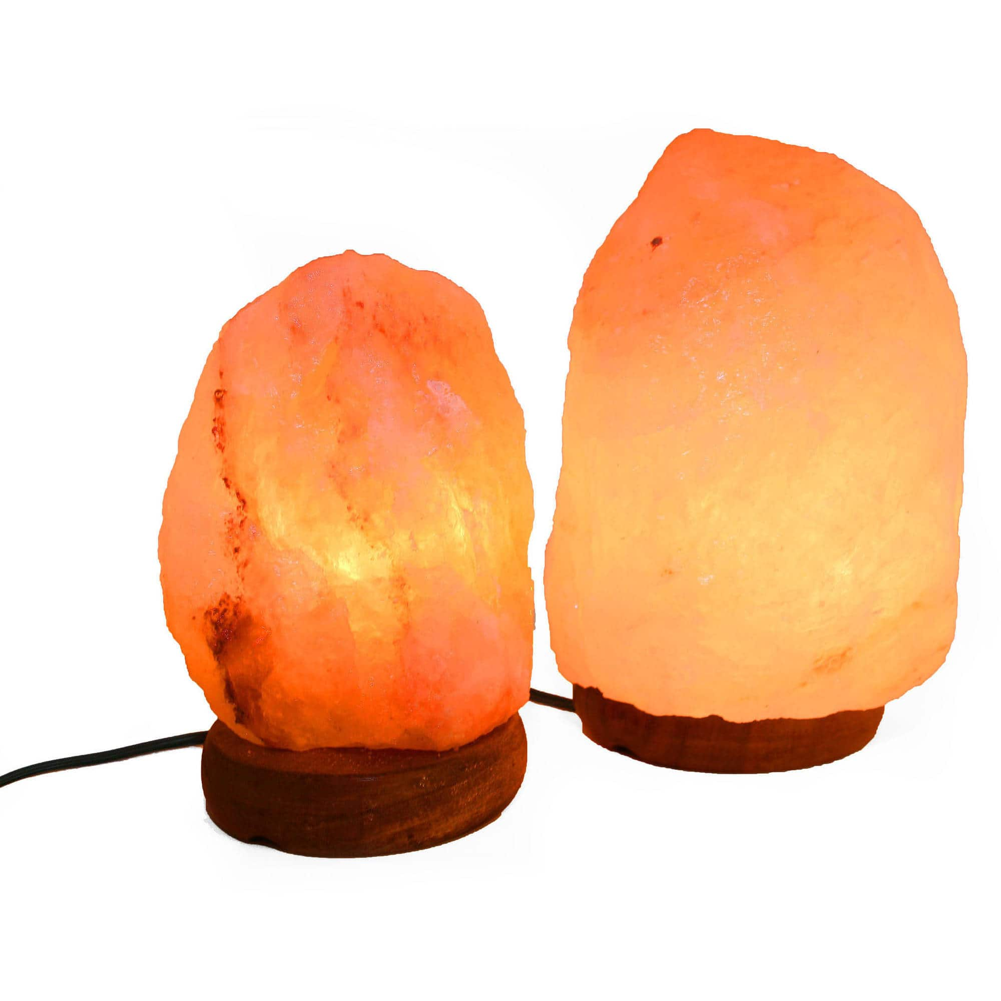 """Accentuations by Manhattan Comfort 6"""" Natural Shaped Himalayan Salt Lamp 1.6, Set of 2 with Dimmer Walmart Pickup Discount $4.85"""