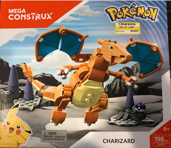 Mega Construx Pokemon Charizard Building Set, Target, in store, YMMV