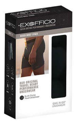 Costco: ExOfficio Give-N-Go Boxer Brief, 3-pack - $24.99