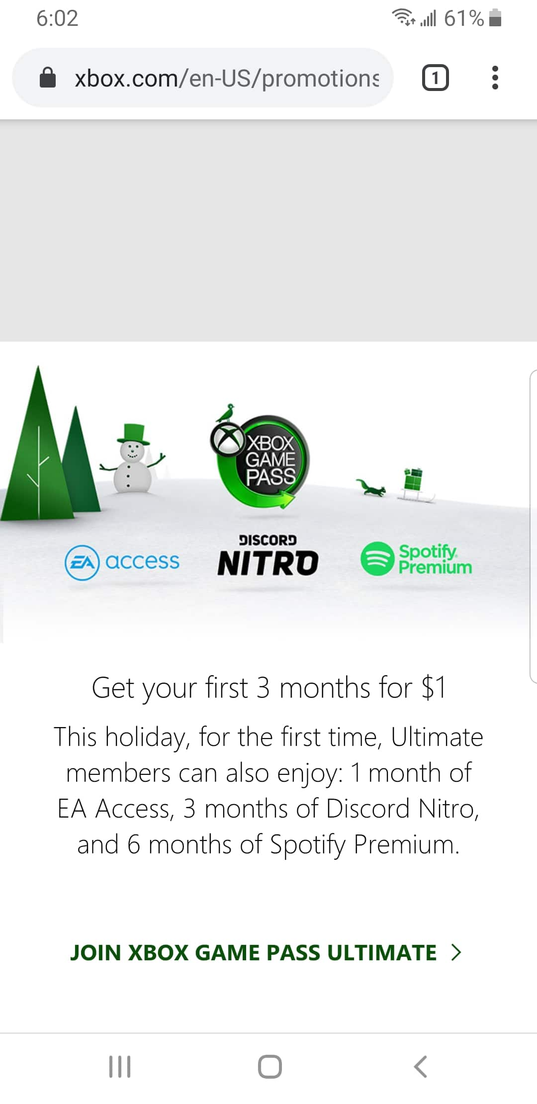 Xbox Ultimate Holiday Giveaway: 1 month EA Access, 3 months Discord Nitro, 6 months Spotify Premium