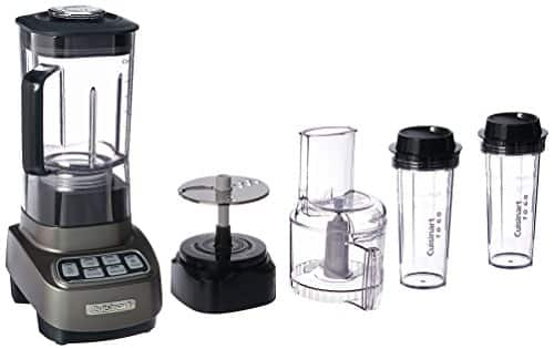 Cuisinart BFP-650GM Velocity Ultra Trio 1 HP Blender/Food Processor with Travel Cups, Gun Metal $70