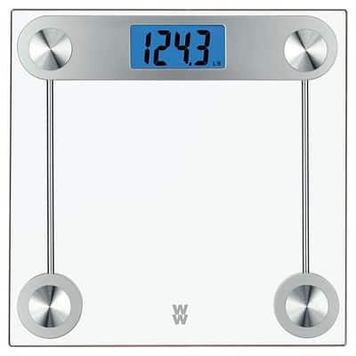 Conair Weight Watchers 24 TR Clear Glass Scale - weight capacity upto 400 pounds $10.99