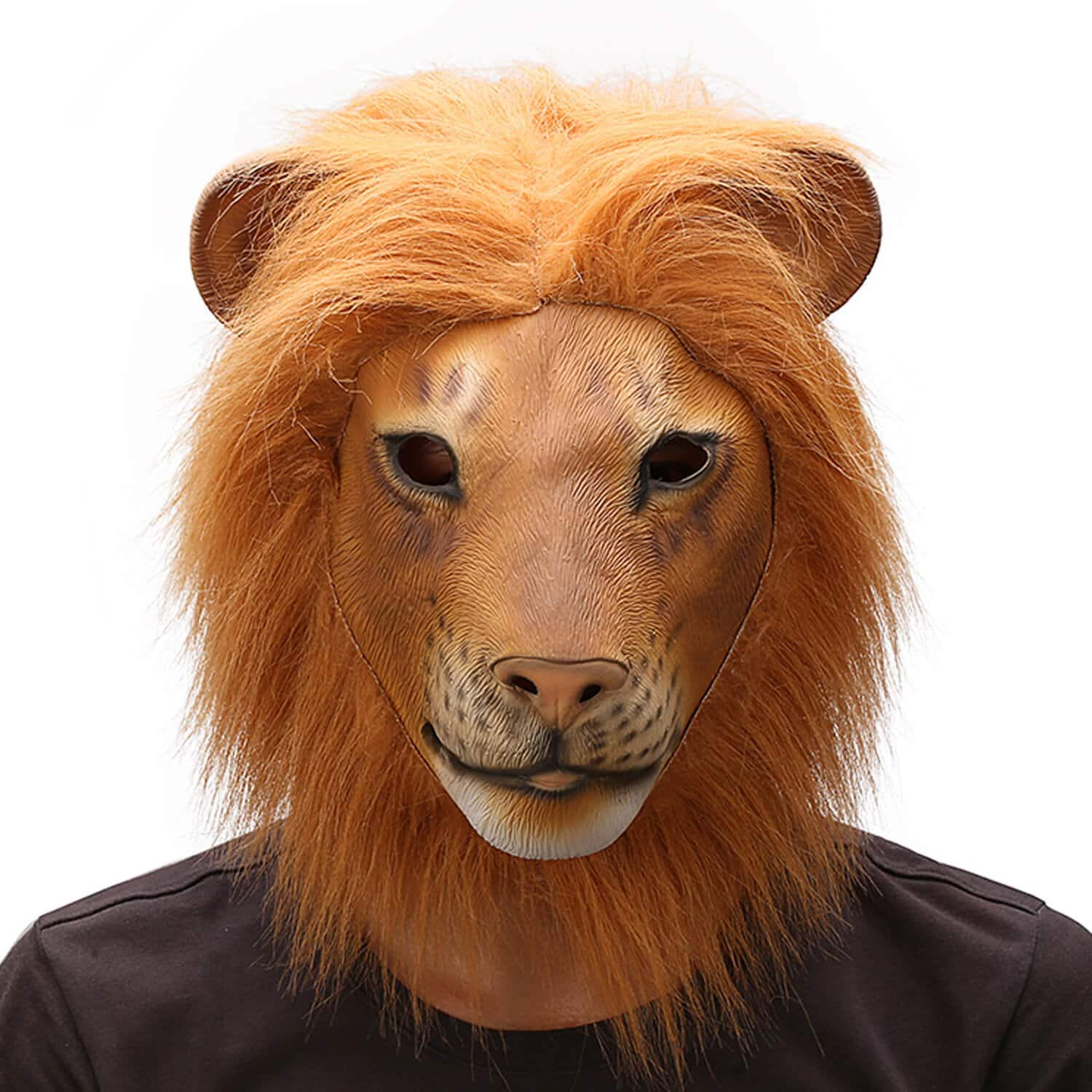 Halloween Christmas Easter Costume Party Masks Funny Latex Animal Head Mask  (Lion) $10 49
