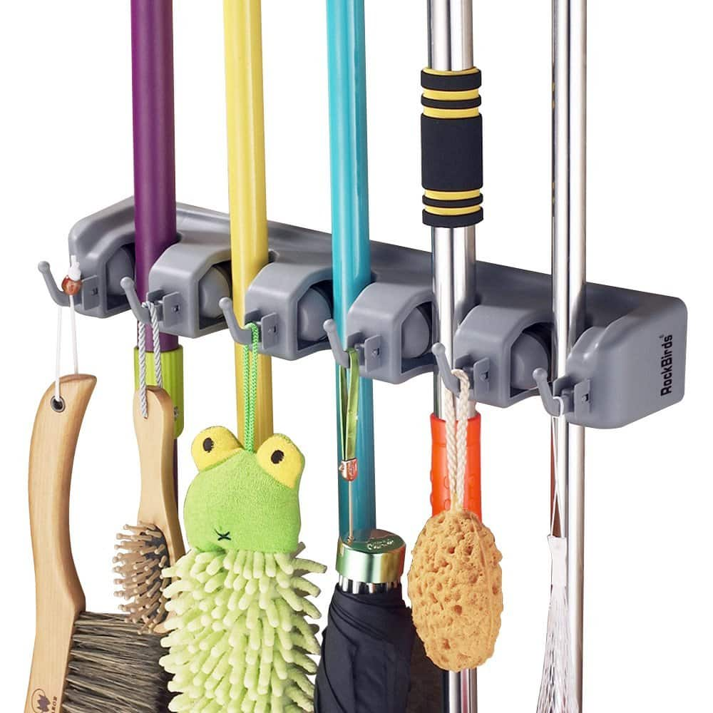RockBirds T56 Multipurpose Wall Mounted Organizer (5 Position 6 Hooks) for $9.99