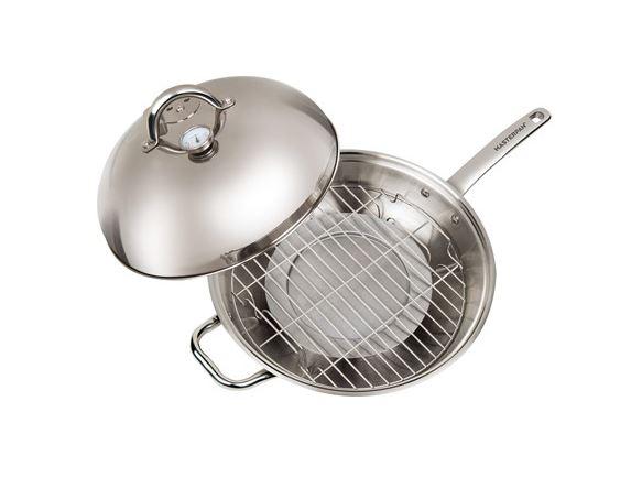 """Master Pan MasterWok Multi-Use Wok, 13"""", Stainless Steel $49.99"""