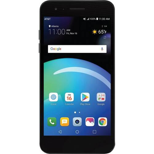 AT&T Prepaid - LG Phoenix 4 with 16GB Memory Prepaid Cell Phone - Titan Black $20