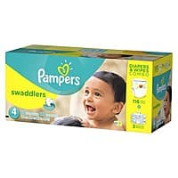 Target Deal: Target free 25$ Gift Card with Pampers Swaddlers & Cruiser Diapers & Wipes Combo Pack Back