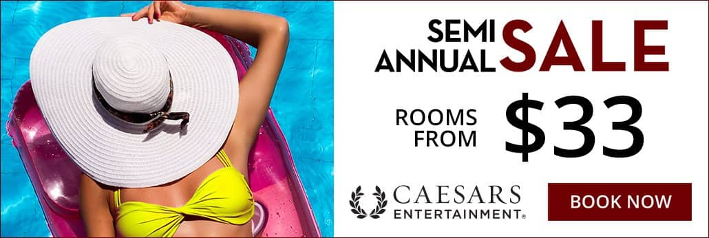 Vegas.com Semi Annual Sales $33
