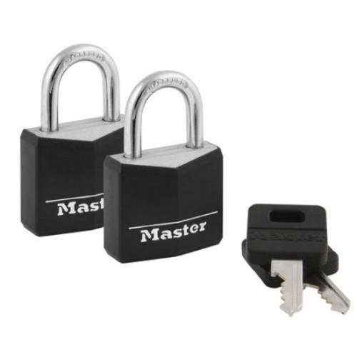 Master Lock 30mm Covered Padlocks, 2pk $2.28