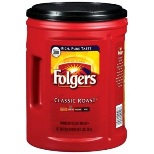 Folgers Classic Roast Ground Coffee (48 oz.) @ Sam's Club $7.73