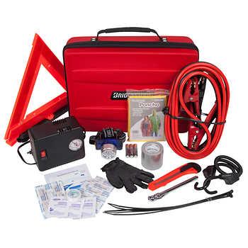 Bridgestone Auto Safety Emergency Roadside Kit with air compressor - Costco $29.99