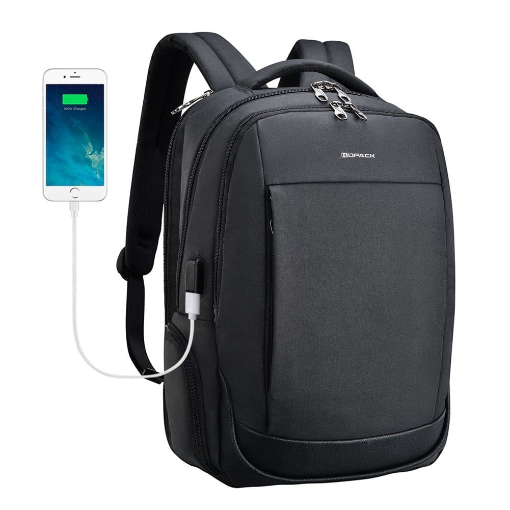 Kopack Anti-theft Laptop Water Resisting Backpack with USB port $23.99 (Amazon) Prime Member/FS