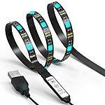 6.6Ft TV LED USB Light Strip 60 LEDs Changing Color Strip Kit Accent light Set w/inline mini controller for $8.83 + FS/Prime