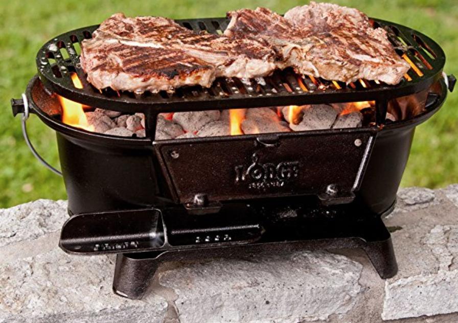 Lodge L410 Pre-Seasoned Sportsman's Charcoal Grill , Black $85.97 FS Amazon