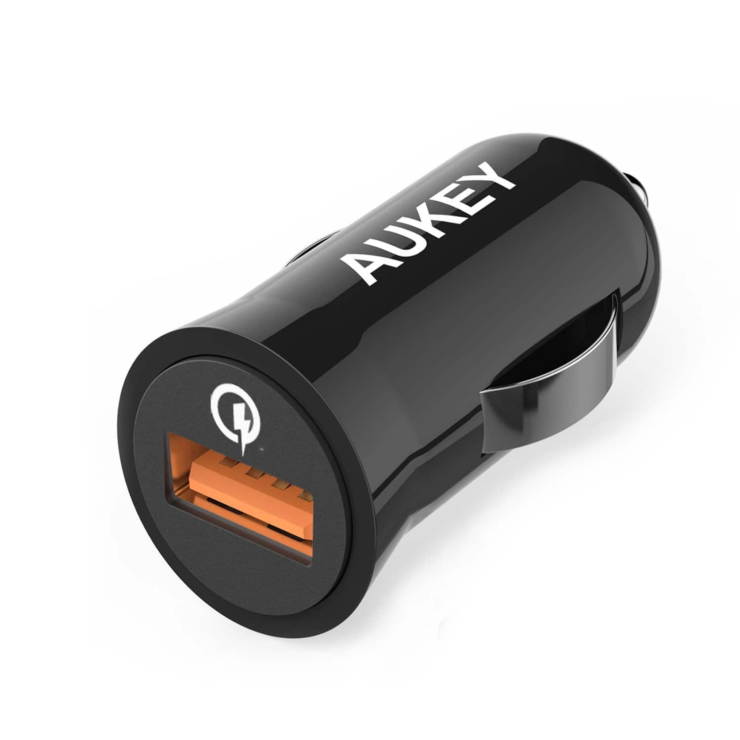 Quick Charge 2.0 AUKEY 18W USB Car Charger for LG G5/G4, Samsung Galaxy S8/S8+/S7/Edge, iPhone and More Quick Charge 2.0 AUKEY 18W USB Car Charger  $3.99 free ship