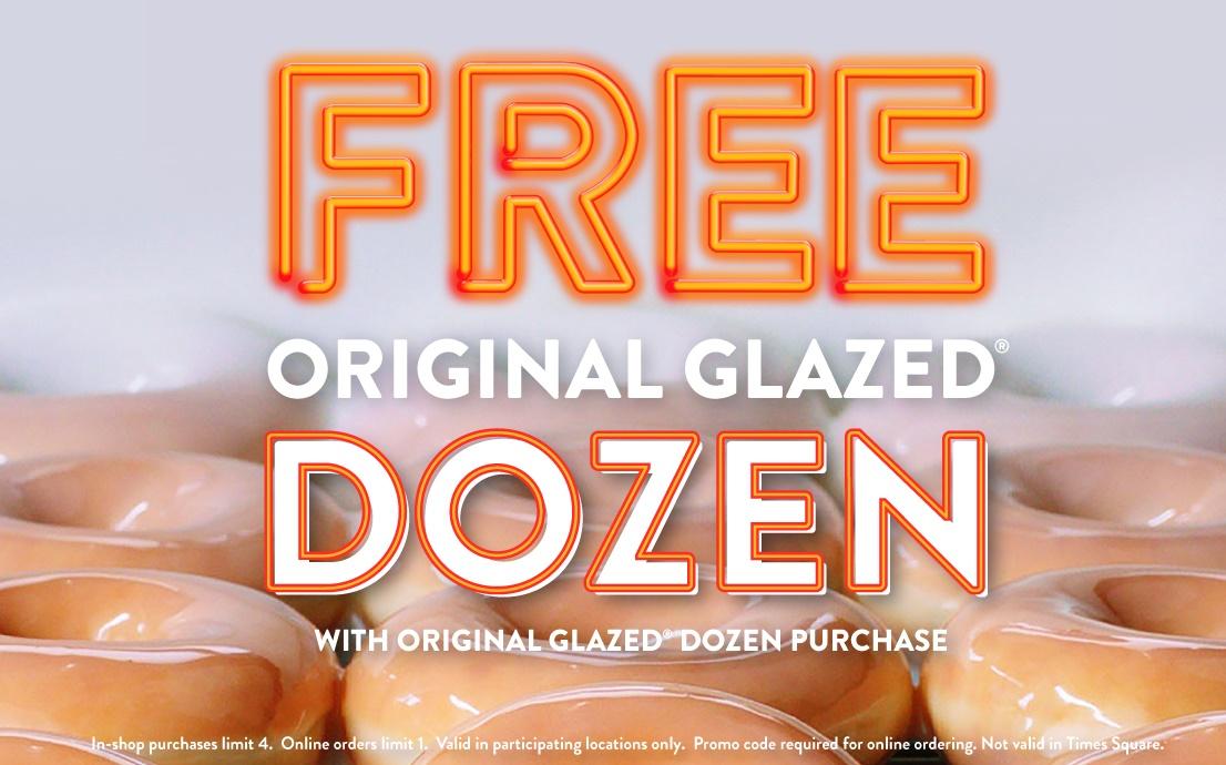 Krispy Kreme BOGO Dozen Glazed  03/01 - 03/07