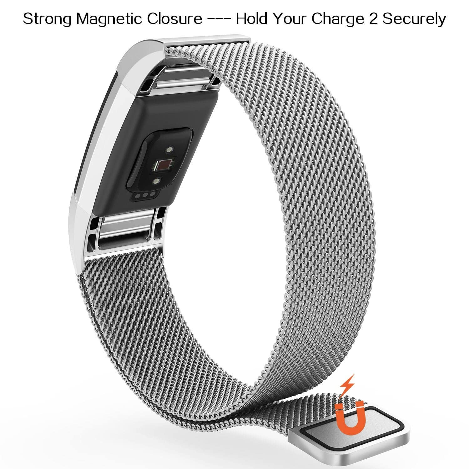 Fitbit Charge 2 Stainless Steel Band $4 98/$5 98 @ Amazon
