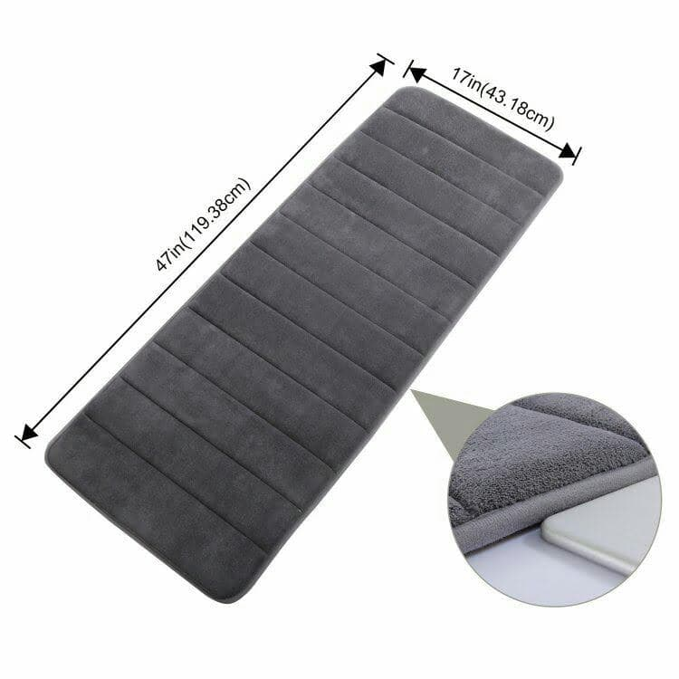 "47"" x 17"" Memory Foam Bath Mat $14.99 @ Amazon"
