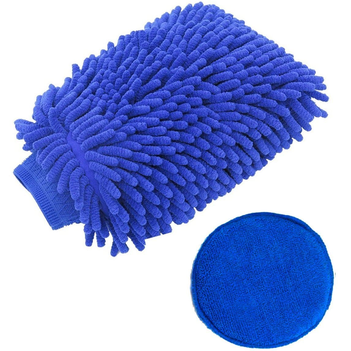 Car Wash Mitt Extra Large Car Wash Mitt and Wax Application Kit (Blue) for $5.99 @ Amazon + FS