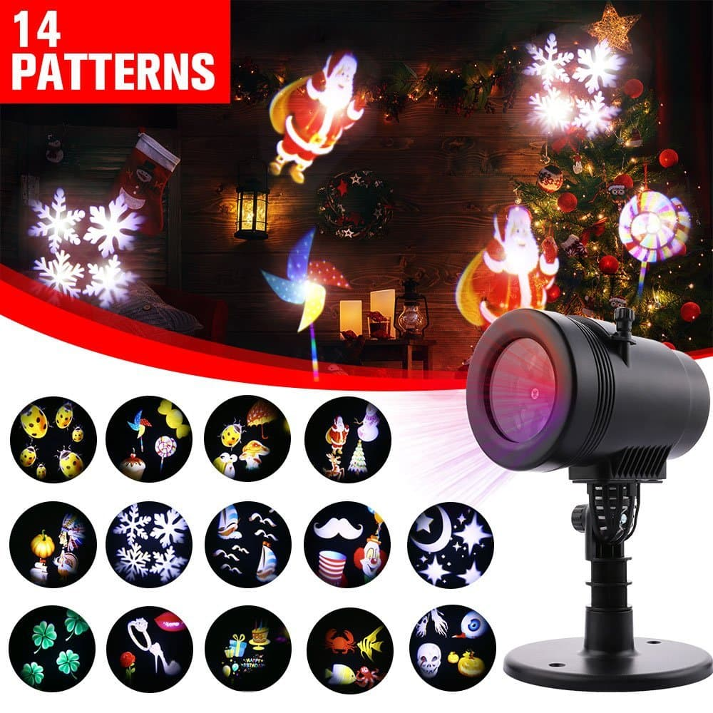 Christmas Projector Lights with 14 switchable patterns for $37.71 + FS @ Amazon