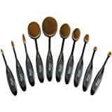 10pcs Oval Makeup Brush Set Toothbrush $8.99 FS @ Amazon