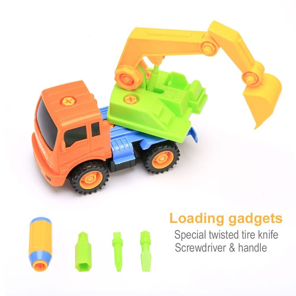 Packfun Take-A-Part Toy Construction Building Truck for $9.79 AC @ Amazon