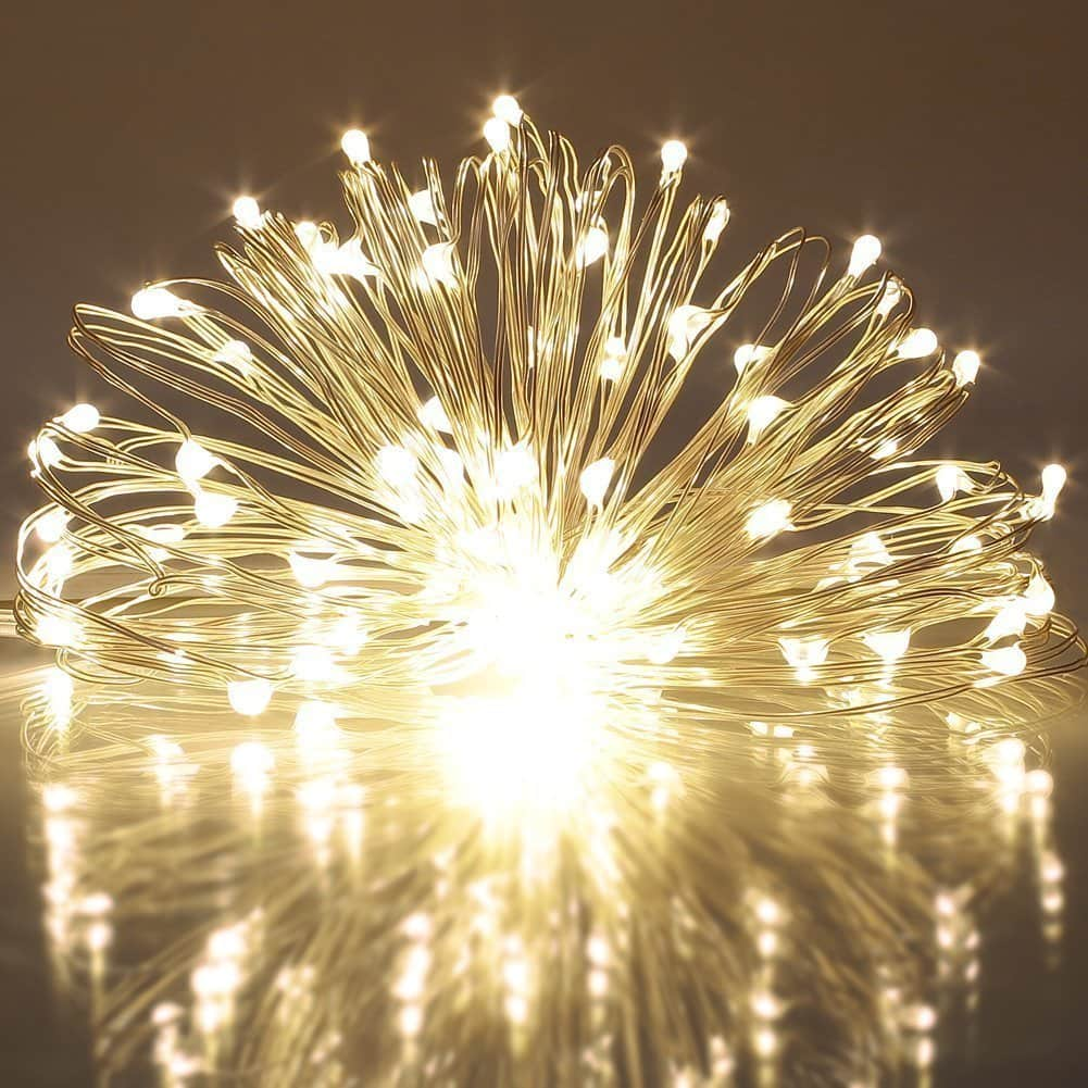 40 LED String Lights 8 Modes Battery Powered on 5 Meter Copper Wire for $4.79 @Amazon AC+FS