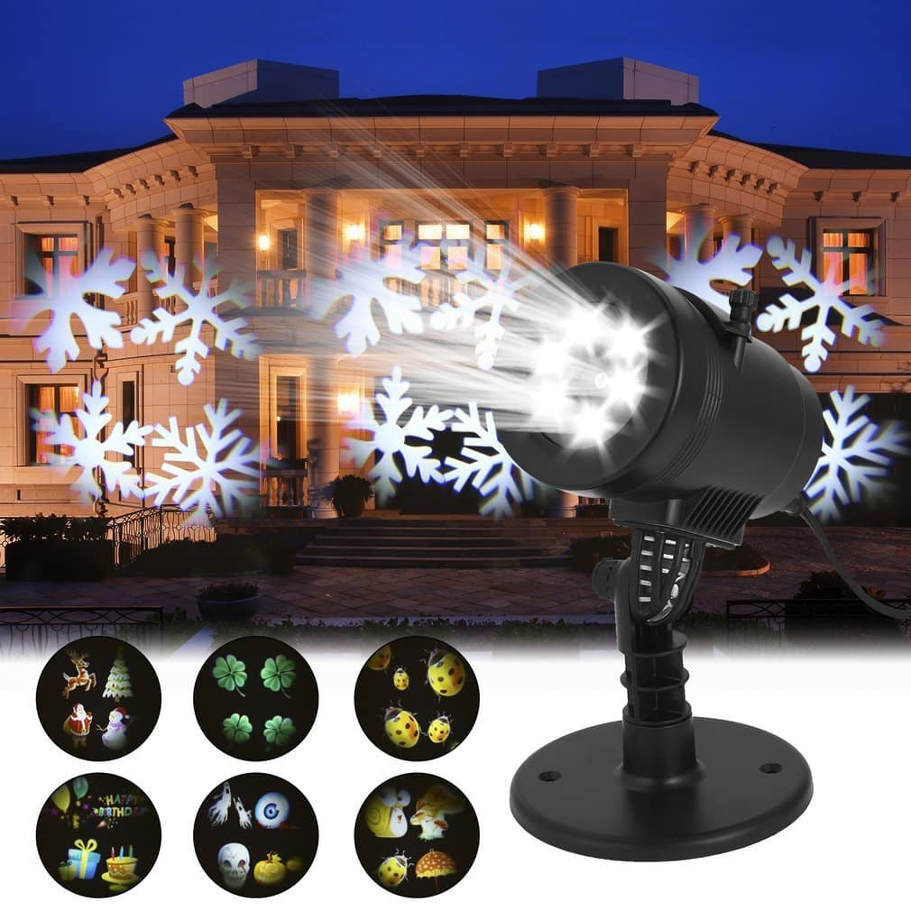 Outdoor Waterproof 6 Switchable Pattern Displays Projector Light for $11 AC+FS @ Amazon $10.99