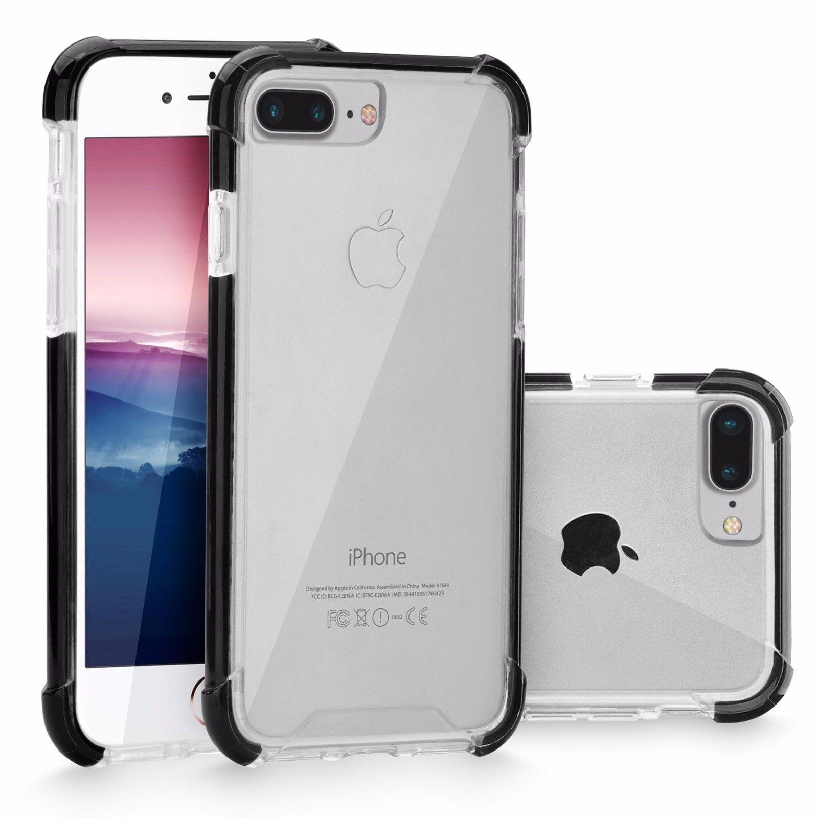 Slim Hybrid Clear Soft TPU Shockproof Hard Bumper Case For Apple iPhone 7 8 Plus for $4.99 at eBay.com