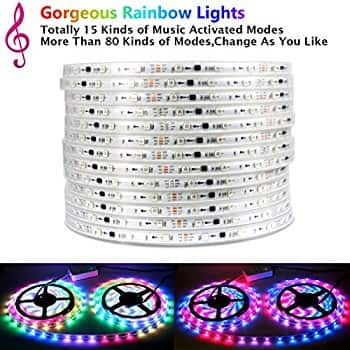 32.8ft/10m IP65 Waterproof LED Light Strip 5050 RGB LED Strip with RF Controller  $62.99 A/C+FS @ Amazon