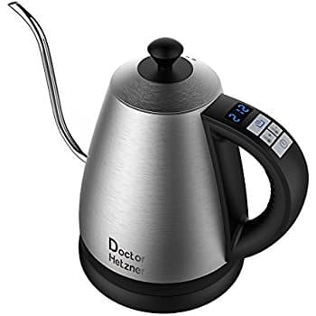 Electric Gooseneck Kettle with Preset Variable Heat Settings for Drip Coffee and Tea for $39.59 AC @ Amazon