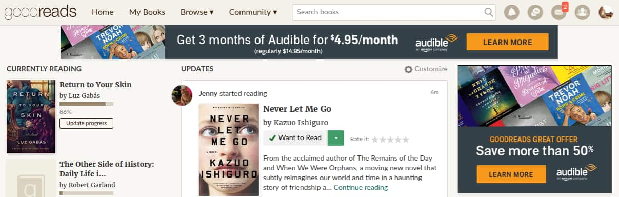 50% off Audible for 3 months - $4.95 per month for 3 months - YMMV $14.85