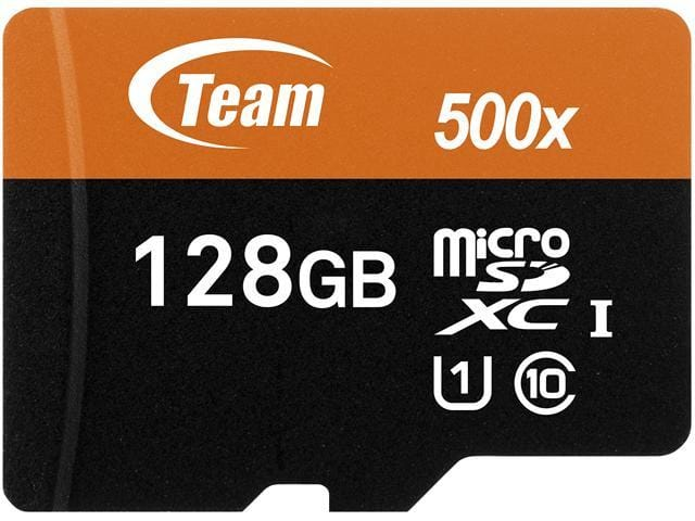 $12.99 Team 128GB microSDXC UHS-I/U1 Class 10 Memory Card with Adapter from Newegg