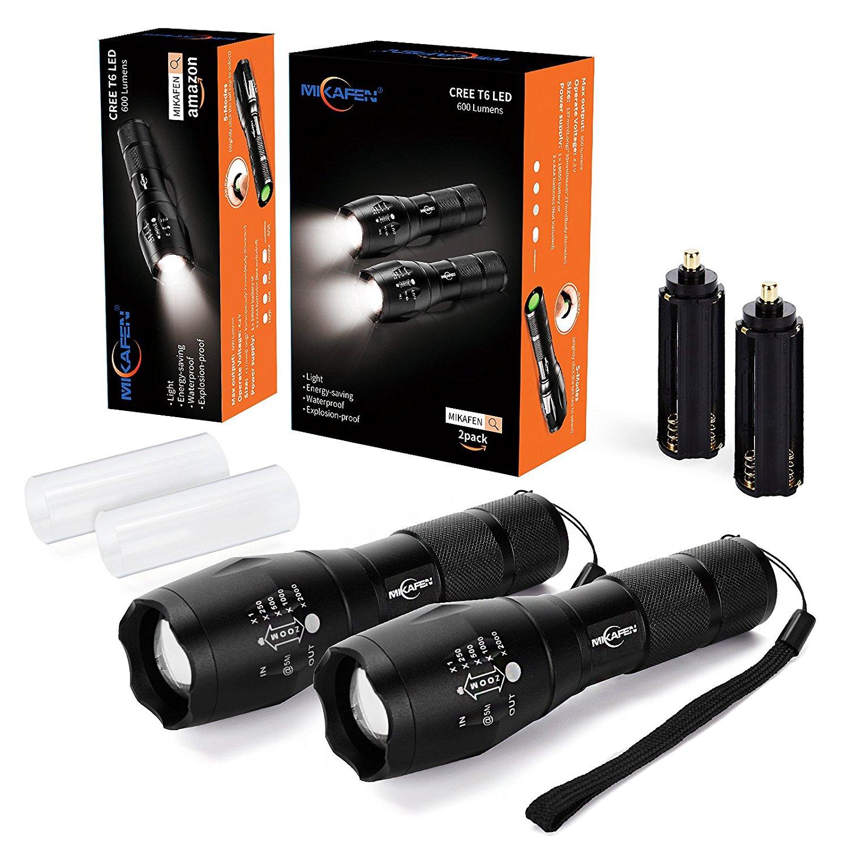LED flashlights - 2 pack $9.99 at Amazon