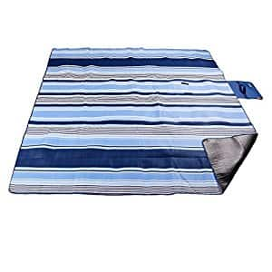 Extra Large Outdoor Picnic Blanket,Waterproof backing, seats 5-6 adults - $12.49 AC