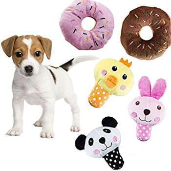HTKJ Squeaky Dog Toys for Small Medium Dogs, Variety Pack Puppy Dog Toys - $6.99 AC $6.98