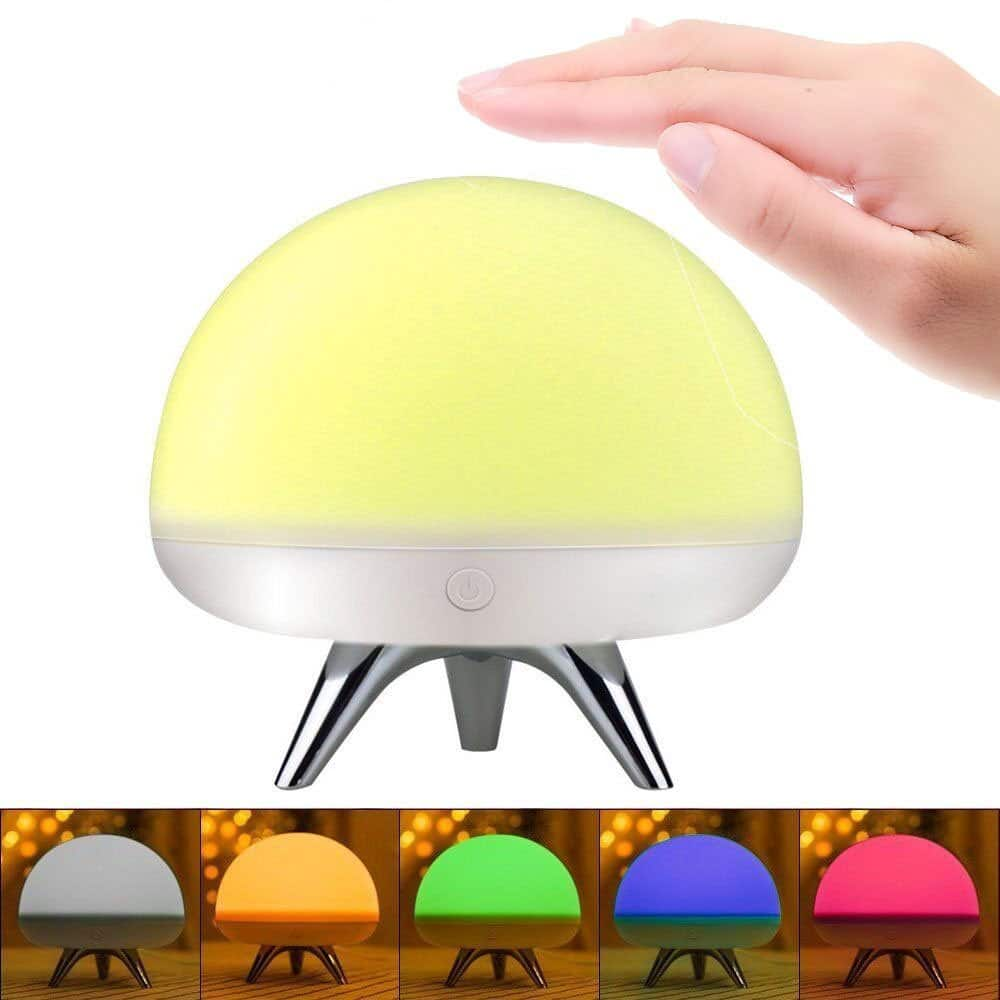 Portable and rechargeable LED Kids Touch Night Light - $6.49 AC