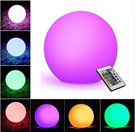 """WIOR LED Decorative Ball, 5.9"""" Waterproof Rechargeable Color Changing Cordless Indoor/Outdoor Light - $12.99 AC"""