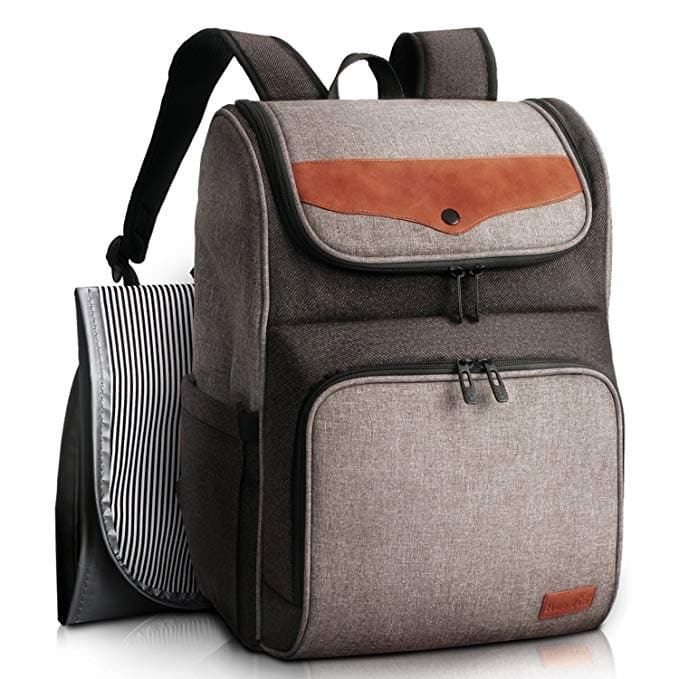 Large Diaper Bag - Grey+Brown -  19.99 after 50% off coupon ... d1bf77d265