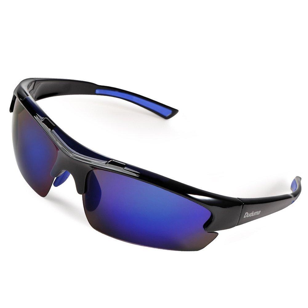 Duduma Polarized Designer Fashion Sports Sunglasses for Baseball Cycling Fishing Golf Tr62 Superlight Frame--$11.99