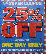 25% Off Single Item, Harbor Freight
