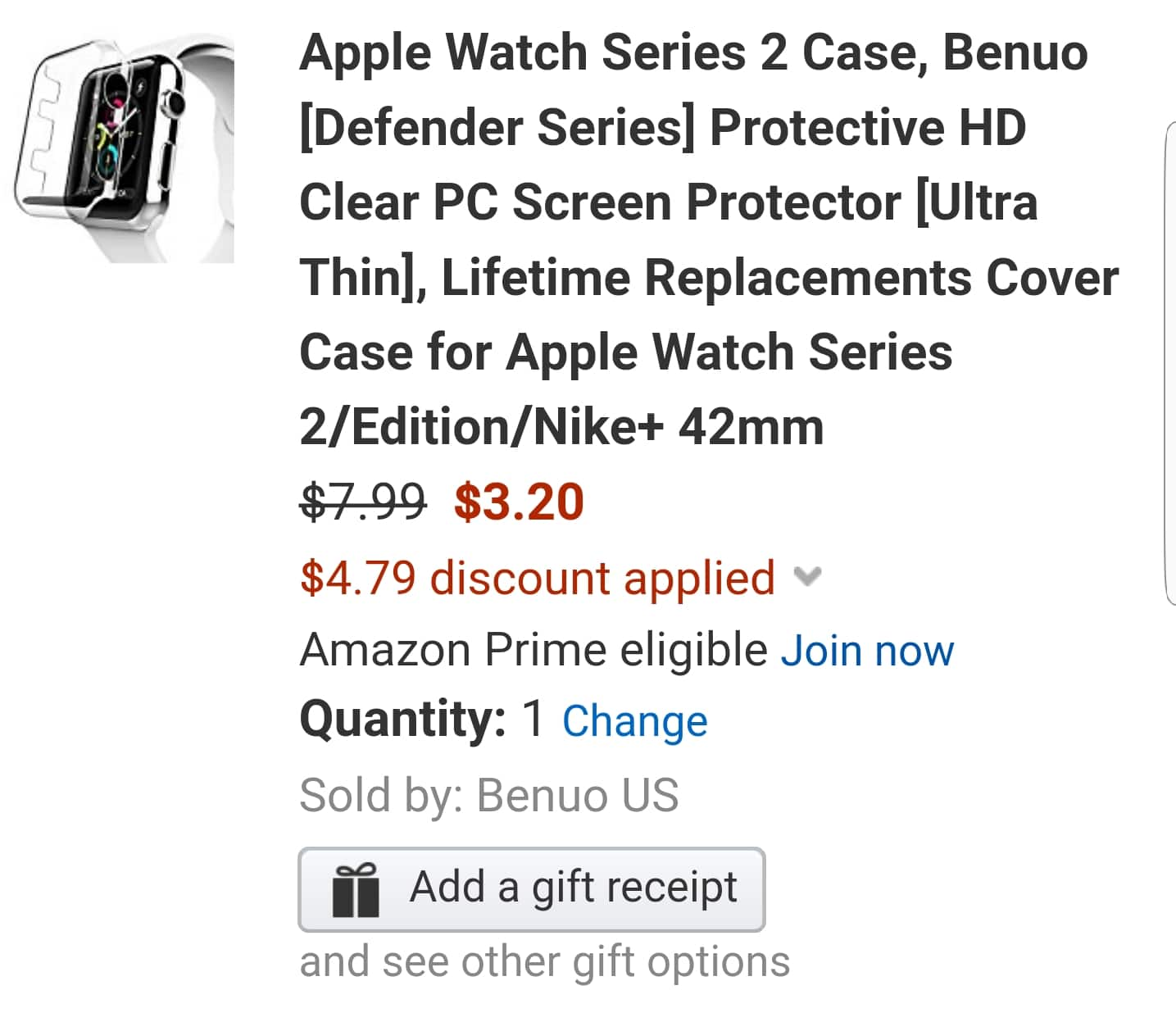 Apple Watch Series 2  SCREEN  PROTECTOR