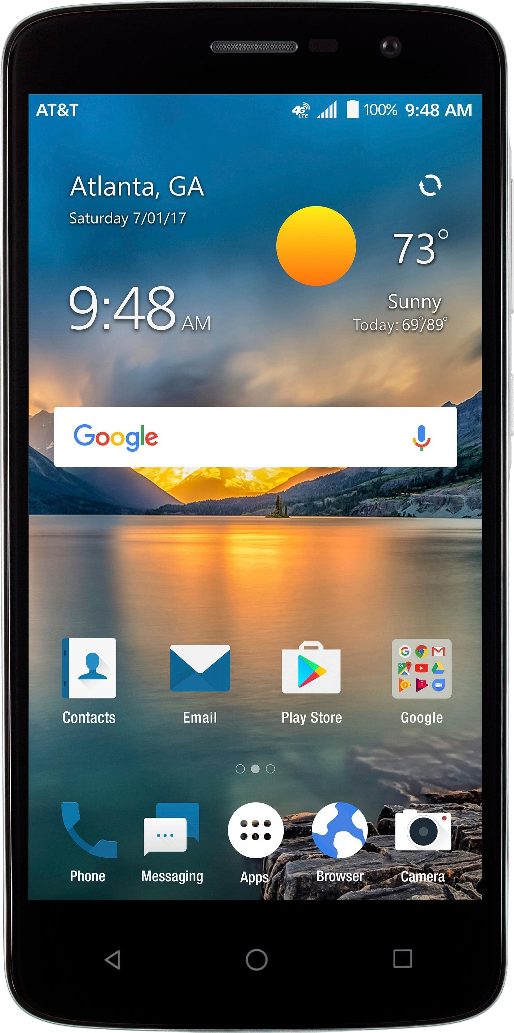 AT&T GoPhone - ZTE Blade Spark 4G with 16GB Memory Prepaid Cell Phone - Grey $69.99