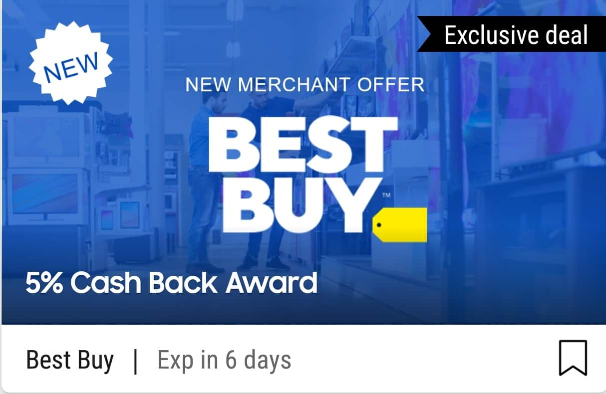 Best Buy 5% CAHSBACK VIA SAMSUNG PAY