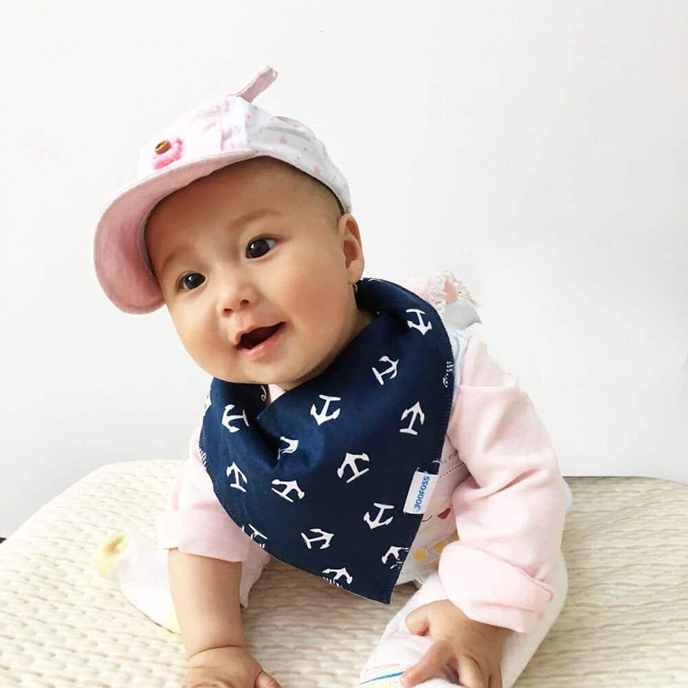 $ 9.89 Baby bibs 8 Pack Soft and Absorbent for Boys & Girls - Baby Bandana Drool Bibs $9.89