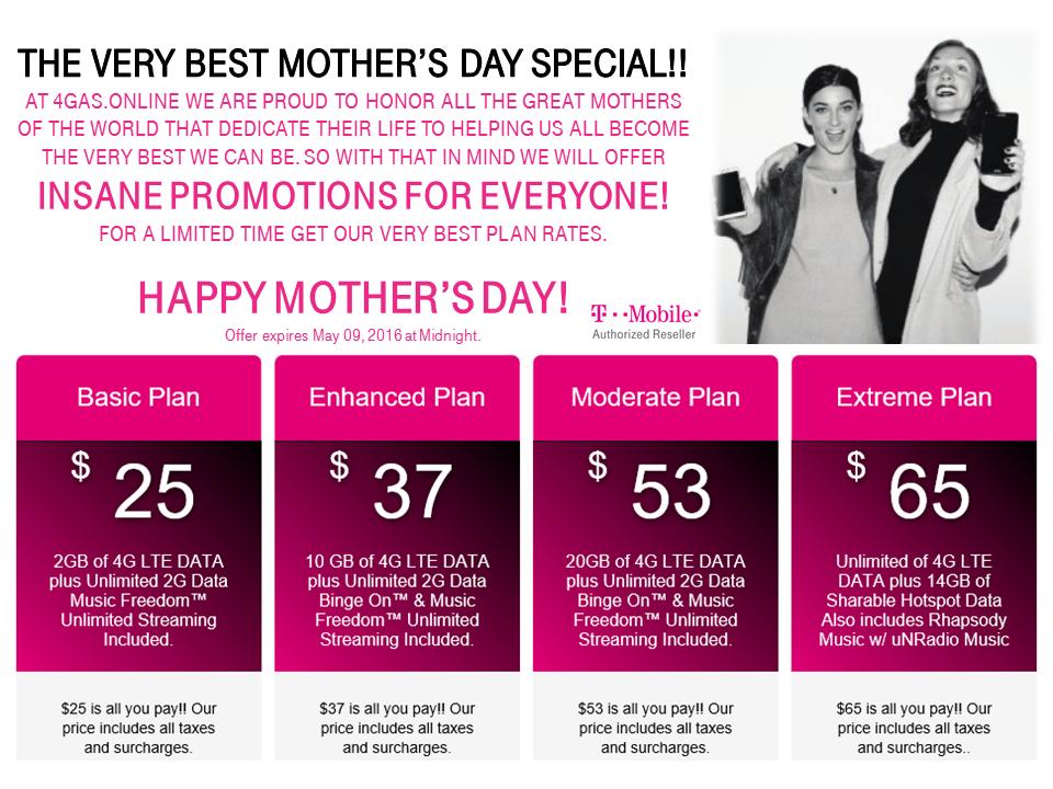 4GAS (T-Mobile business) prepaid 2GB plan $25, 10GB plan $37, free SIM
