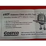 FREE Diabetes A1c blood sugar test @costco in Silicon Valley YMMV others