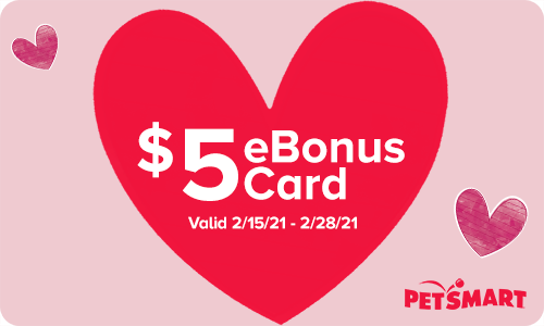 Petsmart gift card: Buy $25 gc get $5 bonus gc